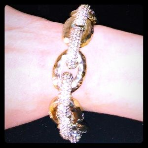 *Glam Gold and Crystal Chain Bracelet